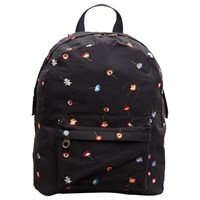 French Connection Naomi Embroidered Backpack Black