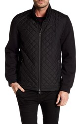 Bugatchi Long Sleeves Padded Contrast Sleeve Jacket Black