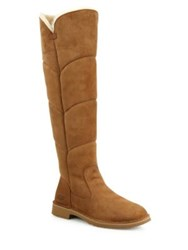 Ugg Sibley Tall Quilted Boots Chestnut Black