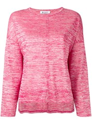Dondup Flared Sweatshirt Pink Purple