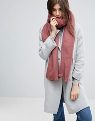 Asos Supersoft Long Woven Scarf Pink