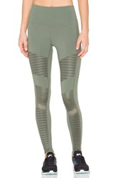 Alo Yoga High Waist Moto Legging Green