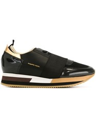 Philippe Model Panelled Sneakers Black