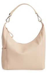 Longchamp 'Le Foulonne' Leather Hobo Bag Ivory