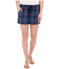 Splendid Casta Plaid Shorts Dark Wash Women's Shorts Navy