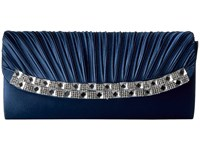 Jessica Mcclintock Marleen Satin Clutch Navy Clutch Handbags
