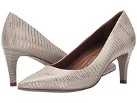Walking Cradles Sophia Beige And Gold Lizard Pu High Heels