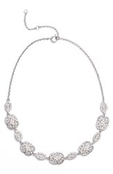 Nina Women's Jules Pave Frontal Necklace Silver