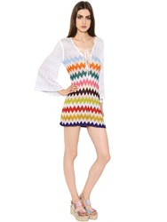 Missoni Zigzag Lace Up Knit Dress
