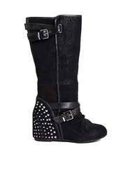 Aldo Mcentire Wedge Knee High Boots 96Black