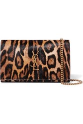 Saint Laurent Monogramme Leopard Print Calf Hair Shoulder Bag Leopard Print