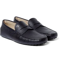 Tod's Gommino Full Grain Leather Driving Shoes Midnight Blue