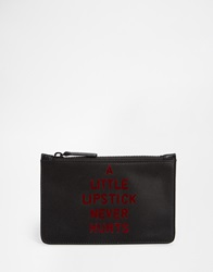 Lulu Guinness Lipstick Never Hurts Satin Make Up Bag Lipstickneverhurts