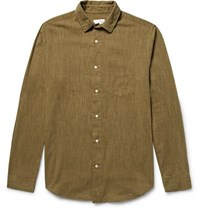 Gant Rugger Slub Cotton Shirt Army Green