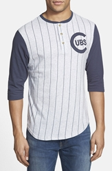 Red Jacket 'Chicago Cubs Double Play' Jersey Henley Heather Grey Navy