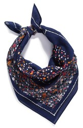Echo Women's Floral Print Square Scarf Navy