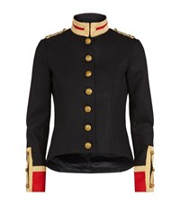 Denim And Supply Ralph Lauren Officer Military Blazer Female Black