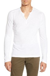 Men's One Bxwd Long Sleeve Henley Optic White
