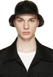 D By D Black Faux Leather Bucket Hat