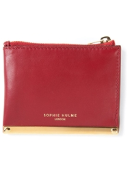 Sophie Hulme Flat Coin Purse Red
