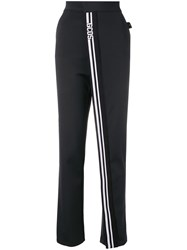 Gcds Striped Loose Track Trousers Black