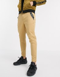 Sik Silk Siksilk Tapered Chino Pants In Tan
