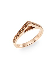Phyne By Paige Novick 0.34 Tcw Champagne Diamond And 14K Rose Gold Point Ring