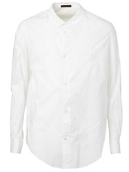 Ziggy Chen Curved Hem Shirt White