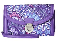 Vera Bradley Ultimate Wristlet Lilac Tapestry Clutch Handbags Purple
