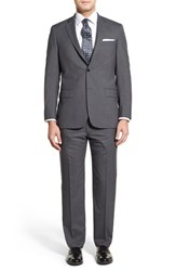 Men's Big And Tall Hart Schaffner Marx Classic Fit Check Wool Suit Grey