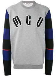 Mcq By Alexander Mcqueen Logo Sweatshirt Men Cotton Polyester Wool Polyamide L Grey