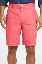 Vineyard Vines Men's Big And Tall 'Summer' 9 Inch Flat Front Twill Shorts Jetty Red