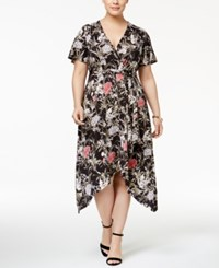 Inc International Concepts Plus Size Printed Wrap Dress Only At Macy's Mystic Garden