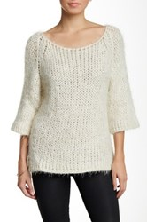Luma Fuzzy Sweater White