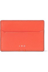 Iro Leather Cardholder Bright Orange