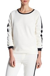 Alternative Apparel Long Sleeve Stripe Pullover White