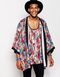 Jaded London Feather Kimono Black