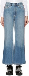 Marc By Marc Jacobs Blue And Red High Wasted Flared Jeans