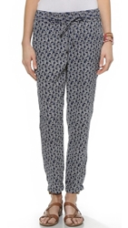 Splendid Zebra Print Pants Navy