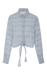 Solid And Striped Taylor Knotted Shirt Blue