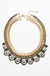 Berry 'Antique Chain' Layered Bib Necklace Metallic