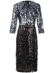 Dolce And Gabbana Sequinned Dress Metallic