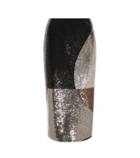 Tom Ford Sequinned Pencil Skirt Silver