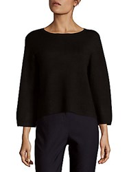 Saks Fifth Avenue Black Flare Sleeve Top Black