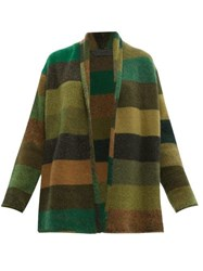The Elder Statesman Italy Striped Cashmere Cardigan Multi