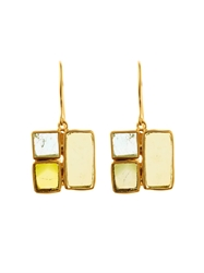Pippa Small Tourmaline And Yellow Gold Earrings