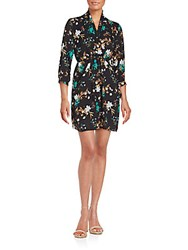 Collective Concepts Floral Printed Wrap Dress Floral Multicolor