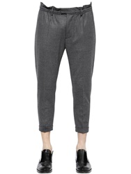 Dsquared 17Cm Dan Fit Stretch Wool Flannel Pants Grey