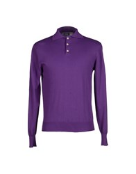 Alain Knitwear Jumpers Men Purple