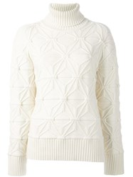Dsquared2 Pattern Knit Turtleneck Jumper Nude And Neutrals